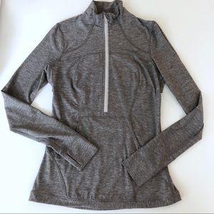 LULULEMON 1/2 zip jacket gray XS Active top RUN